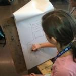 Student sketching
