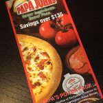 Papa Johns Coupon Book - $5.00